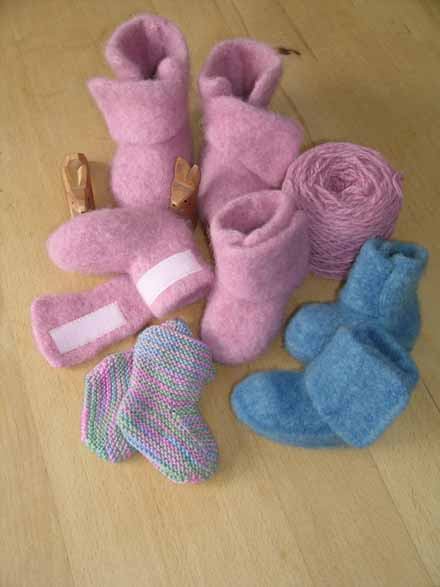 Knitting Pattern Felted Baby Booties : Felted Booties - spinningaround - myblog.de